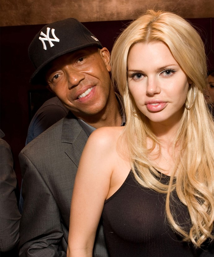 Russell was spotted being very touchy with the blonde bombshell.