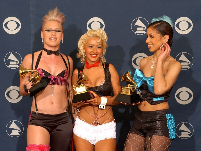 Pink, Christina and Mya in 2002