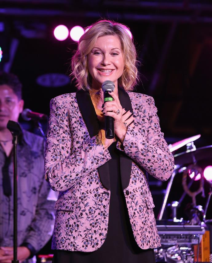 Olivia sang at a charity fundraiser for breast cancer research last year
