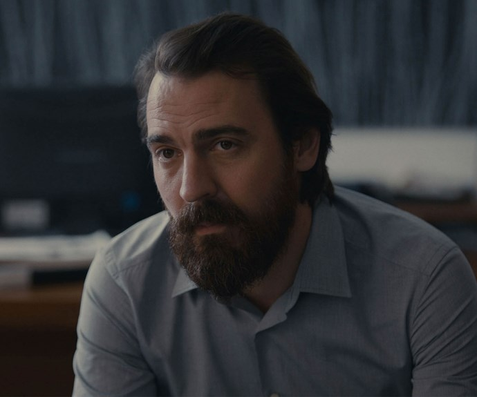 """**EWEN LESLIE AS PYKE EDWARDS:** Mary's adoptive father is a successful lawyer, who's trying to get to grips with Mary's liaison with Puss. """"She started seeing this guy who is older and, from Pyke's point of view, pretty bad news,"""" Ewen, 37, says."""