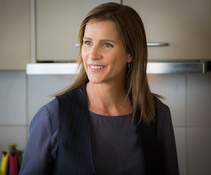 Rachel Griffiths as Belle Lamont in *House Husbands*.