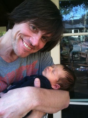 "**[Jim Carrey](http://www.nowtolove.com.au/celebrity/celeb-news/jim-carrey-responds-to-autopsy-of-girlfriends-death-28715|target=""_blank""):** The comedian became a grandpa at only 47 years old! His daughter, Jane Carrey, gave birth to Jackson Riley Santana in 2012. ""This is what 7lbs.11oz. of Calfornia (sic) dynomite (sic) looks like!"" he tweeted."
