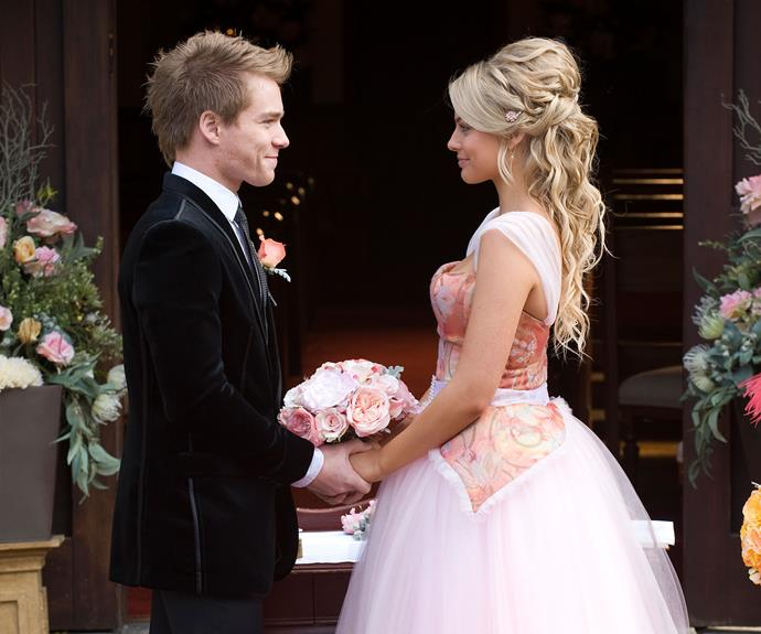 The couple eventually reunited and Ringo proposed to Donna, which she immediately accepted. Their wedding took place during the 6000th episode of Neighbours in 2010 and at the time, producers hoped the wedding could match the magic of Scott and Charlene's. But the fairytale romance wasn't meant to be and only a month after the nuptials, Ringo was knocked down by Steph (Carla Bonner) on her motorbike and he died not long after.