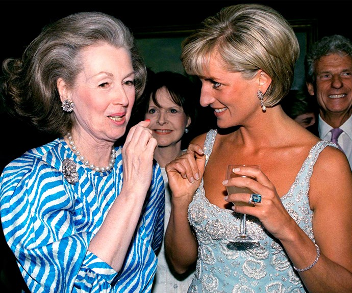 Diana, pictured with her stepmother Raine Spencer in New York in 1997 shortly before her death, was the life of the party.