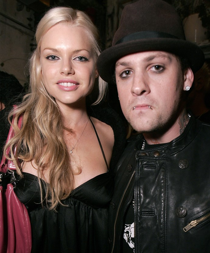Sophie with her former flame, Benji Madden.