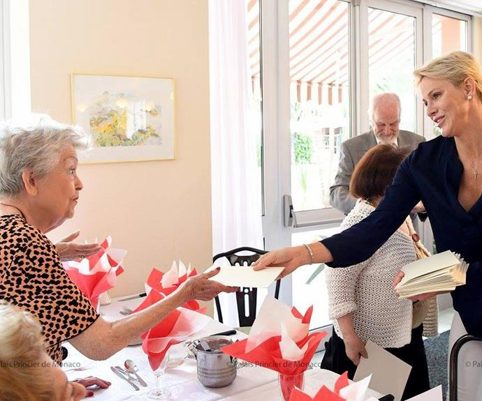 Charlene regularly visits the foundation.