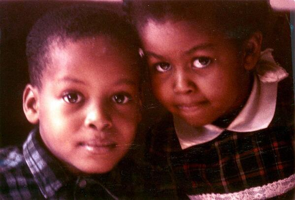 The little miss on the right grew up to be a First Lady.