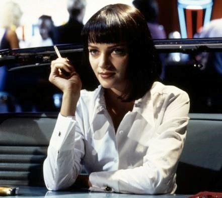 "**Mia, *Pulp Fiction*** Possibly [**Uma Thurman**](http://www.nowtolove.com.au/celebrity/celeb-news/uma-thurman-looks-very-different-27534|target=""_blank"")'s most iconic role. This fierce haircut would be fitting of an '80s supermodel with the authority of a queen - Cleopatra anyone?"
