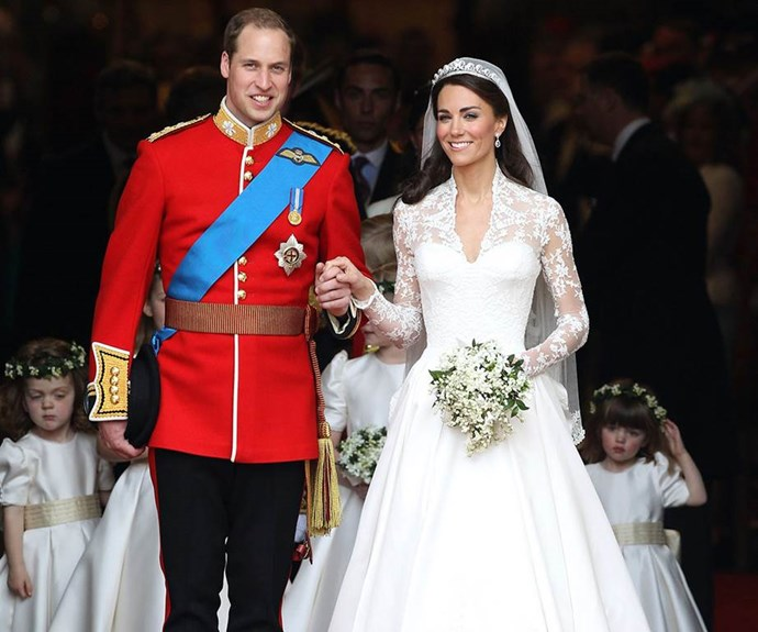 William and Kate on their special day.