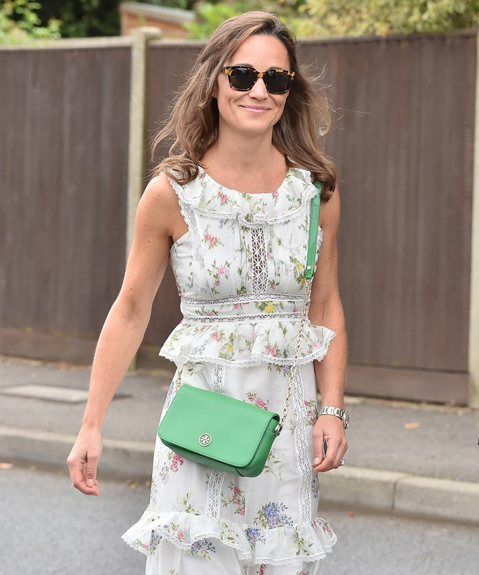 Pippa has been opting for flowing ensembles of late.