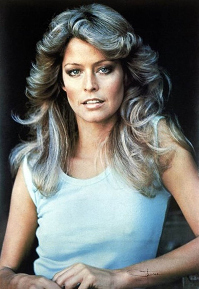 **Jill Munroe, *Charlie's Angels***. The late Farrah Fawcett had unforgettable hair on *Charlie's Angels*, inspiring women to highlight their hair and blow it out into full, sweeping waves.
