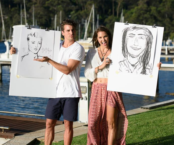 Ouch! Matty has tossed out Laura's painting of him.
