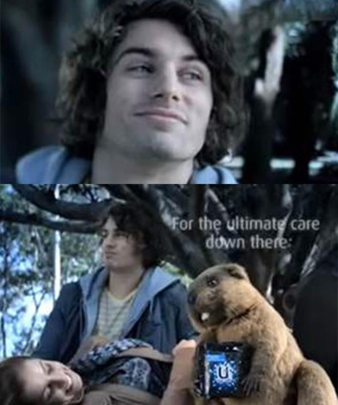 Matty first appeared on our screens in this hilarious Kotex ad in 2009, with his little friend the beaver.