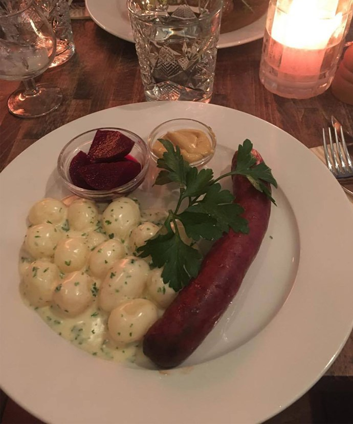 Happiness in a plate. Swedish sosso and taters - you just can't go wrong!