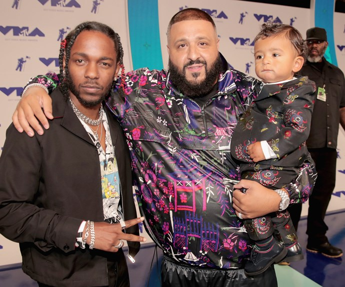DJ Khaled brought his great hit, son Asahd Tuck Khaled. The pair hung out with fellow cool kid, Kendrick Lamar.
