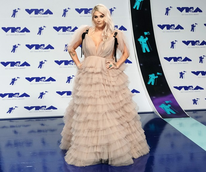 Kesha is in the building and is giving us tulle fever.