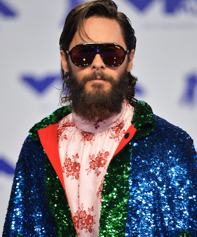 Oscar winner Jared Leto shows how to look like a dream boat in sequins and paisley... And that's no easy feat.