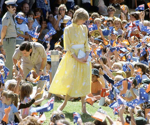 Prince Charles and Princess Diana's Alice Springs school visit.