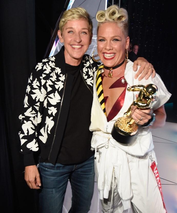 Ellen presented her friend with the prestigious award.