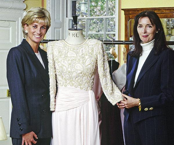 Diana and Catherine Walker collaborated on many of her famous looks.