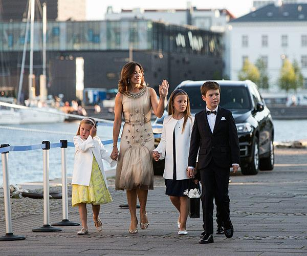 Princess Mary stepped out with her four children for the celebrations.