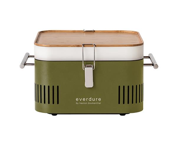 """Start dad's summer off right with a new portable charcoal BBQ. It comes with an integrated storage tray and bamboo chopping board. Great for camping and weekends away. <br><br> [Everdure by Heston Blumenthal Cube Portable Charcoal BBQ Khaki](https://www.davidjones.com/brand/everdure-by-heston-blumenthal