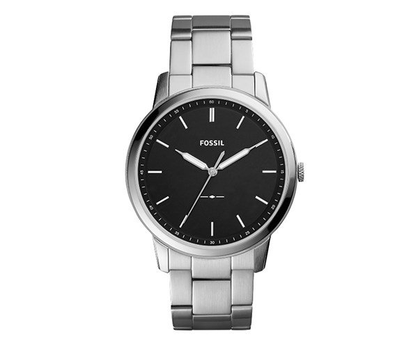 For dads that don't understand why watches just can't be watches anymore — take *that* smart watches — here's the perfect pressie. Timeless, classic, sharp, and not wildly overpriced  either. <br><br> [Fossil The Minimalist Silver-Tone Watch](http://shop.davidjones.com.au/djs/en/davidjones/the-minimalist-silver-tone-watch), $229.00