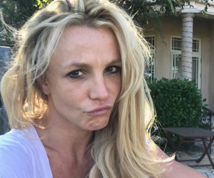 "Introducing the self-dubbed *real* [**Britney Spears**](http://www.nowtolove.com.au/tags/britney-spears|target=""_blank"") sans make-up. ""On days where I don't get primped and made up for my show, this is the real unglammed me,"" she wrote on Instagram. ""I call this my morning coffee at home look ☕️ #NoMakeupMonday if you don't count the leftover mascara under my right eye..."""