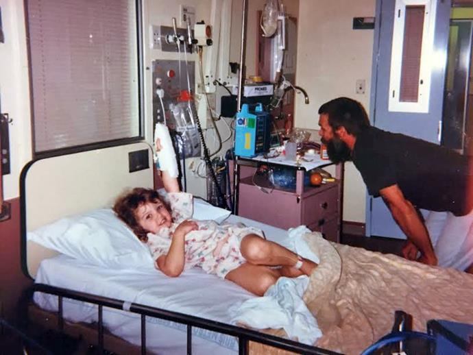 Me, age four, in hospital.
