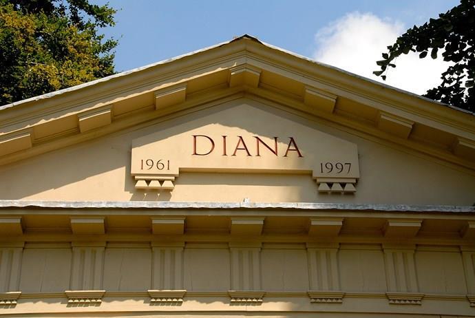 A shot of princess Diana's tomb.