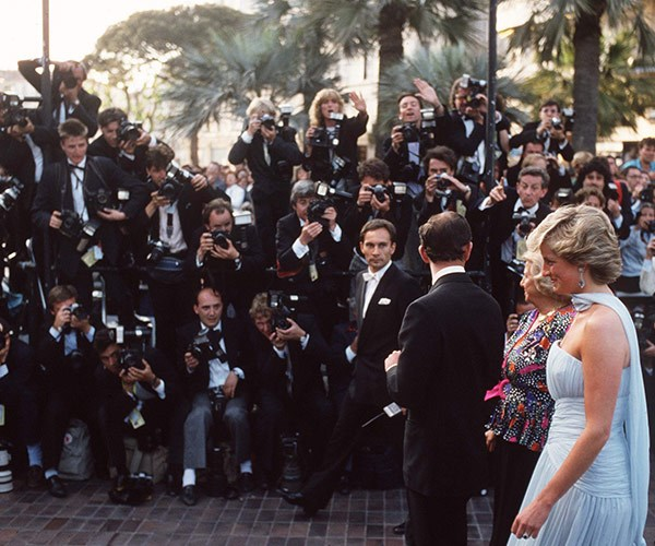As her protection officer during her time in the Royal Family, Ken Wharfe would spend hours preparing the security measures for Princess Diana, pictured here at Cannes Film Festival in 1987.