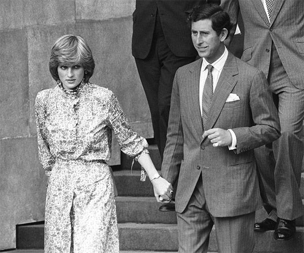 Lady Diana Spencer and Prince Charles leaving St. Paul's Cathedral after their wedding rehearsal on 27 July, 1981.