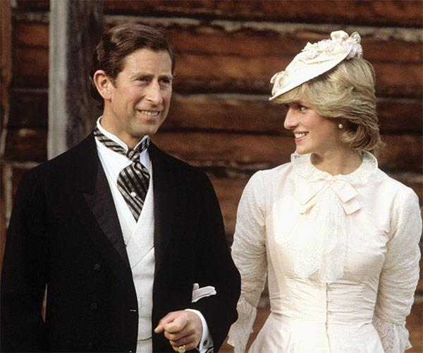 Diana and Charles dressed up in Edwardian fashion for a Klondike evening barbecue, on June 29, 1983 at Ford Edmonton in Canada.