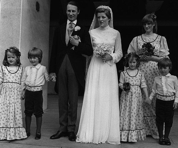 Diana (pictured far right) was her big sister, Lady Jane Spencer's bridesmaid, back in 1978. A few years later she'd be the bride at her royal wedding.