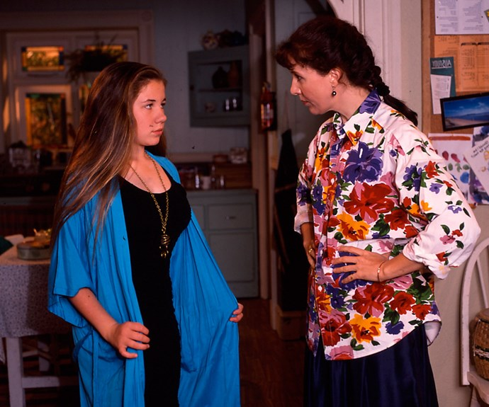 Debra and her on-screen daughter Kate Ritchie in *Home And Away*.