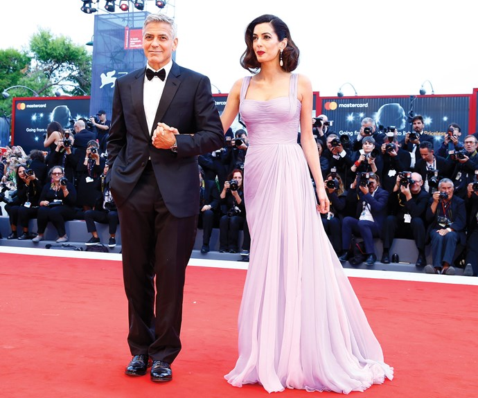 While her 59-year-old hubby looked as dapper as can be rocking a tux.