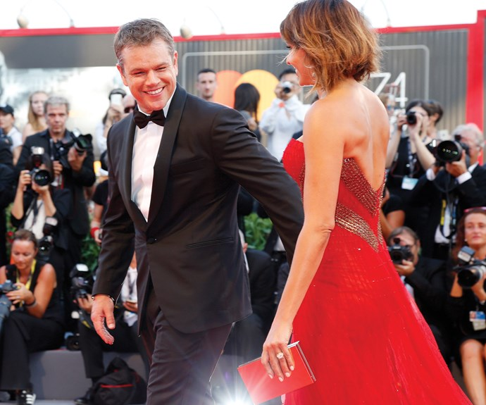 Matt Damon only has eyes for his wife Luciana.
