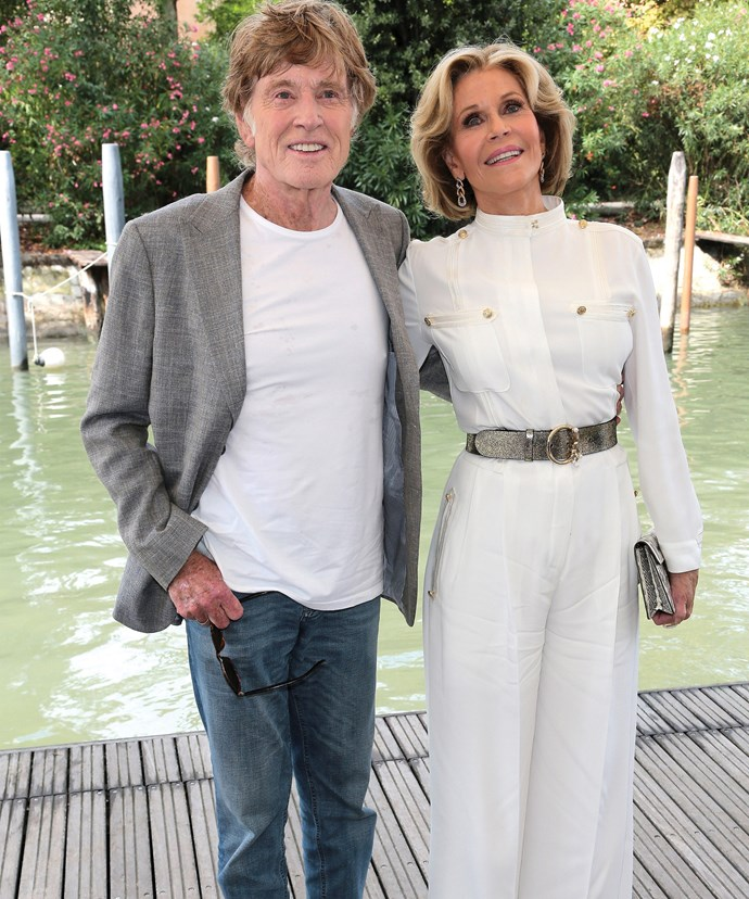 Jane Fonda with her dear friend Robert Redford.