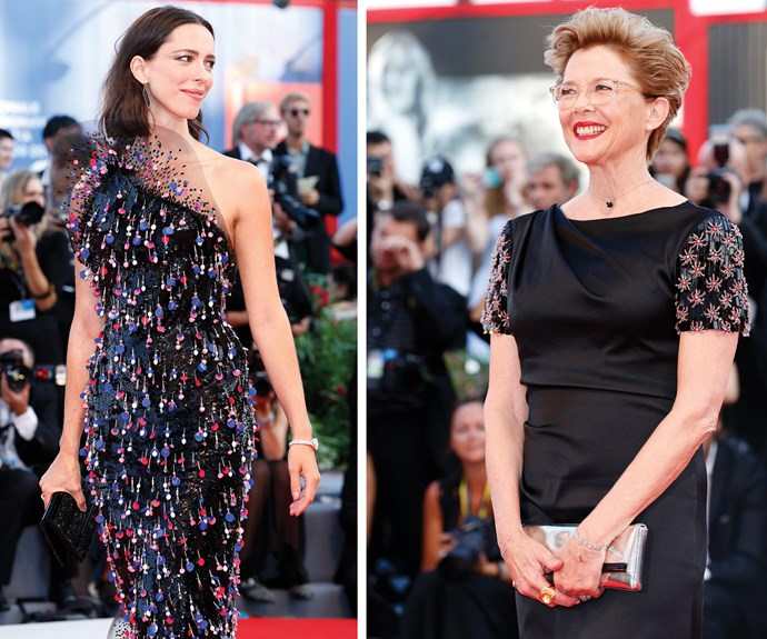 Rebecca Hall (L) and Annette Bening (R) were flawless.