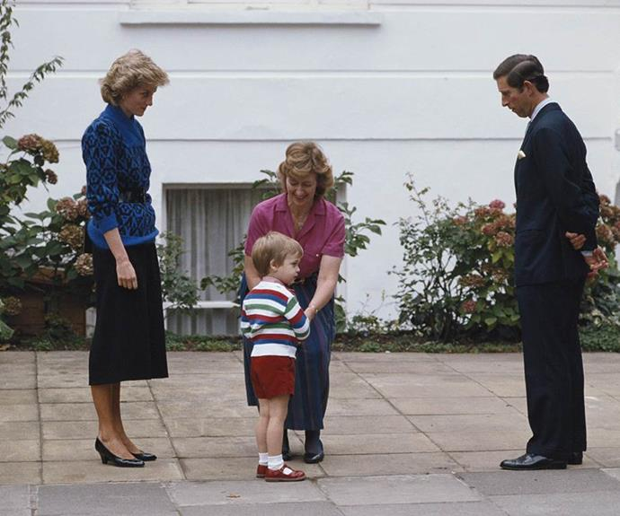 The heir to the throne, who was three at the time, was a little hesitant at first.