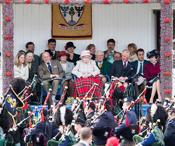 The royals are hugely fond of the Scottish event.