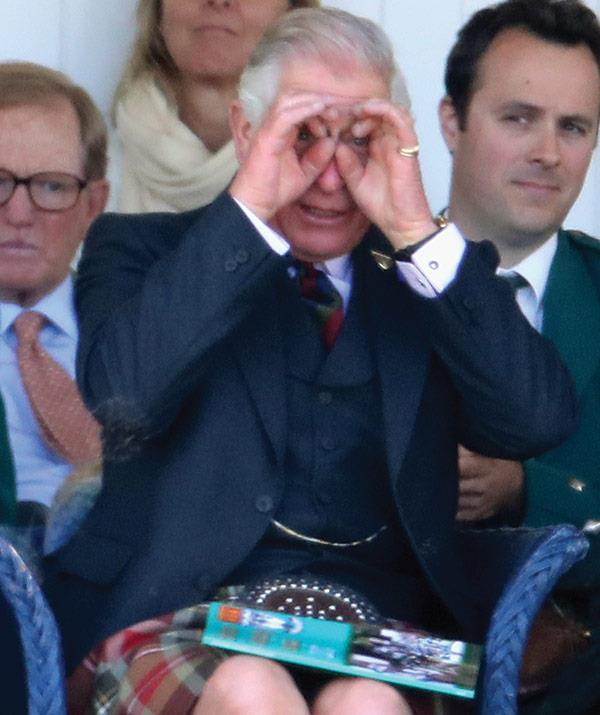 The future king of England shows he's not above a little fun.