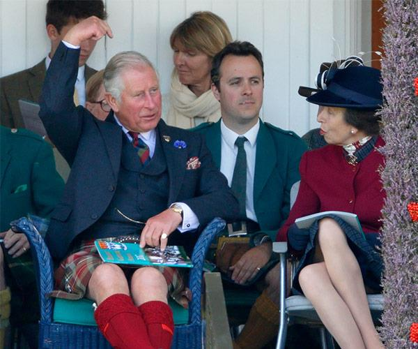 Prince George's grandfather had everyone smiling with his antics.