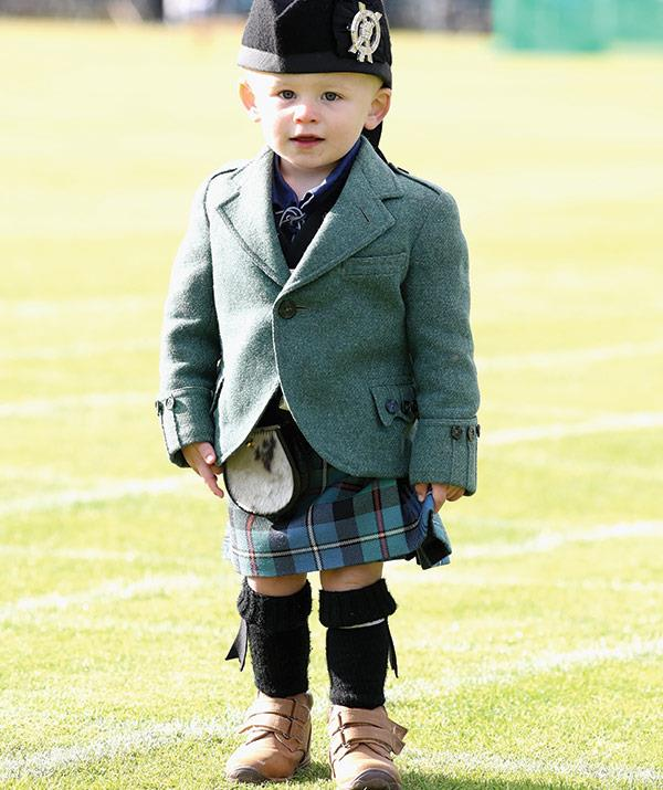 Two-year-old Owen Yarnell was exceptionally adorable in his kilt.