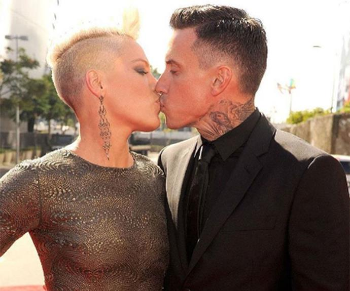 "Pink and Carey Heart celebrated 11 years of marriage in January 2017 and Pink described her marriage as ""yum"" in a gushy post on Instagram. ""Yum yum yum yum yum yum yum yum yum yum yum 👅 that's one for every year care bear. I really like you this week. #happyanniversarymylove I'm very lucky to be able to say that you're mine. Thanks for sticking around,"" she captioned the snap."
