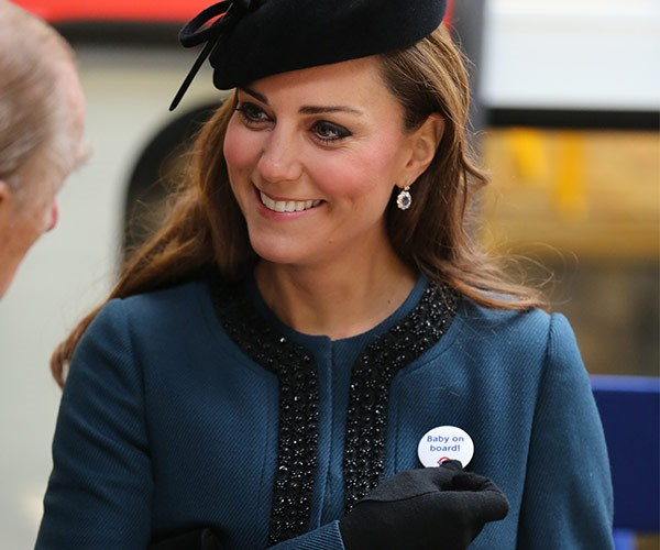 It's time for Kate's *baby on board* badge to return to duty.