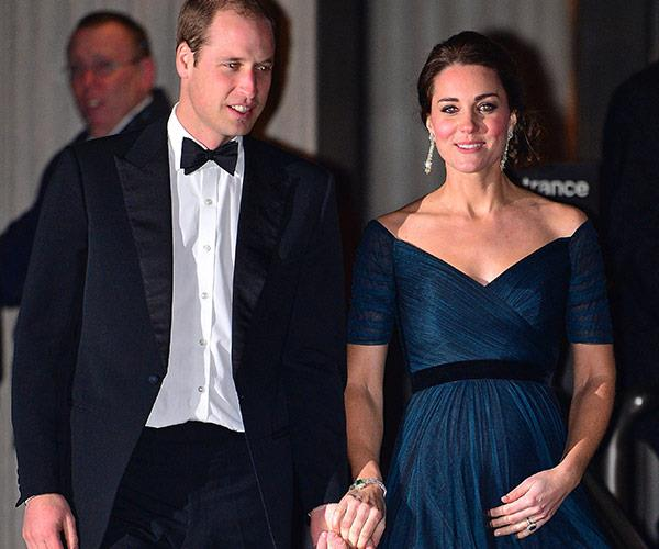Kate rocked a navy Jenny Packham gown for a date night with William.