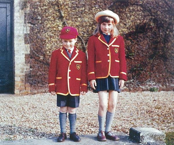 A young Diana, pictured with her younger brother Charles, had aspirations of becoming a ballet dancer.