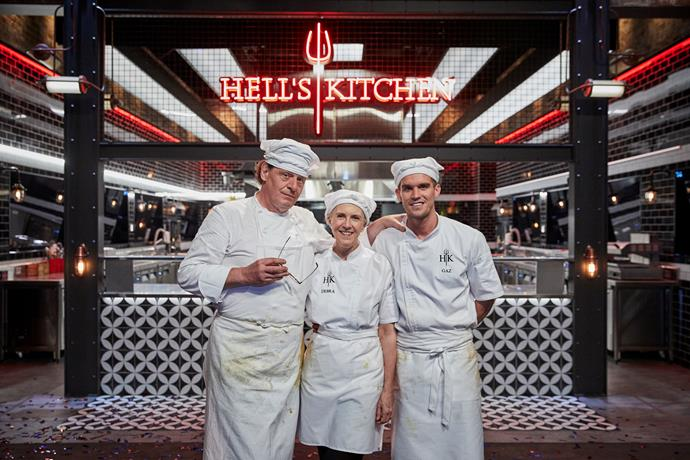 Marco Pierre White, Debra Lawrance and Gaz Beadle on last night's finale.