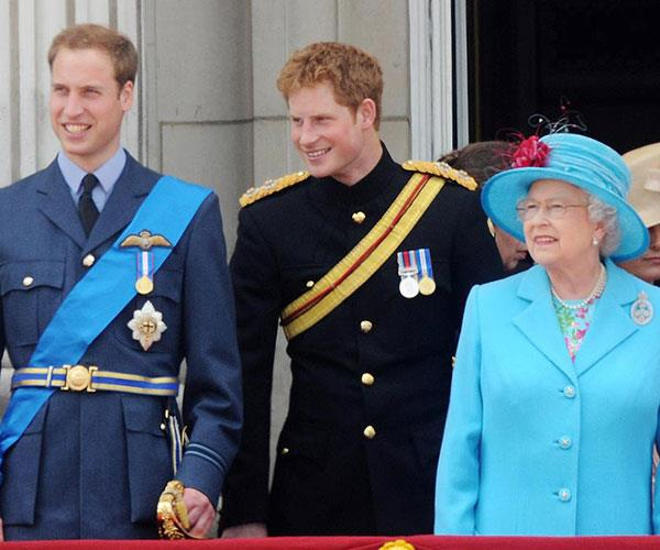 **There's a strict order in which to sit, stand and walk.** Royals have to move in order of ranking. So since Queen Elizabeth II is the reigning monarch, she always goes first, followed by Phillip. Next come Charles and Camilla. And then it's William and Kate. Harry follows behind them.